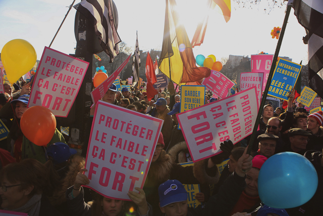 French pro-life demonstration